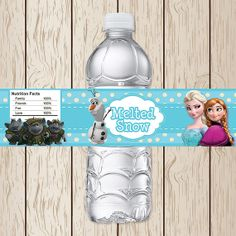Printable Disney Frozen Water Bottle Labels | Frozen Birthday | Frozen Water Bottle Label | Frozen Party Supplies on Etsy, $3.00