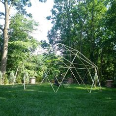 Geodome built with GEO Connectors from https://www.kickstarter.com/projects/25645348/geo-the-geodesic-dome-connector