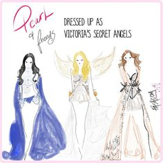 Visit @FASHCOMofficial to see more!!  Pearl and her friends playing dress up as @victoriassecret Angels