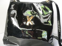 PALOMA PICASSO Black Patent Leather Crossbody Shoulder Bag Kisses  #PalomaPicasso #ShoulderBag