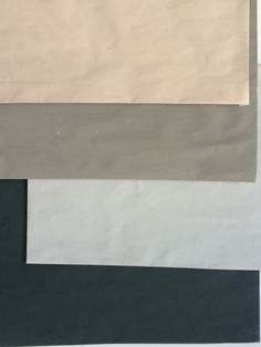 love these colours.Top to Bottom: Farrow & Ball's Setting Plaster, Annie Sloan's French Linen, Farrow & Ball's Cornforth White or Ammonite & Studio Green.