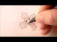 ▶ How to draw tanglepattern Biscus - YouTube