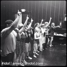 Contestants Top 4-12 reunited for finale choreography rehearsals with Tabitha D'umo. #idol