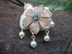 Surfworn embellished shell pendant by uniqueeuphoria on Etsy,