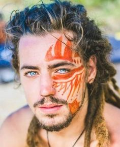Face Tattoos for Men Ideas and Designs for Guys Hello! Here we have great wallpaper about face tattoo designs for men. We hope these photos. Face Tattoos For Men, Tattoos For Guys, The Face, Face And Body, Pintura Facial Neon, Tattoo Gesicht, Tribal Face Paints, Tribal Body Paint, Make Carnaval