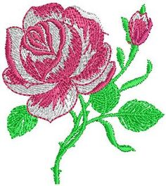 Pretty Rose Floral Embroidery Design 45 - A | Embroidery Ivax