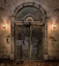 The elevator at Tower of Terror Hollywood Tower Of Terror, Hollywood Tower Hotel, Vintage Disneyland, Disneyland Paris, Disney Day, Disney Parks, Walt Disney, Disneylândia Vintage, Disney Hollywood Studios
