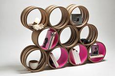 que hacer con tubos de carton Cufflinks, Container, Display, Crafts, Accessories, Home Decor, Ideas Para, Cartoon, Interior