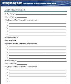 1000+ ideas about Goal Setting Worksheet on Pinterest | Goals ...