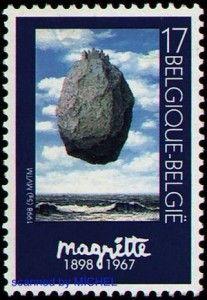 Rene-Magritte-Schloss-Briefmarke1998