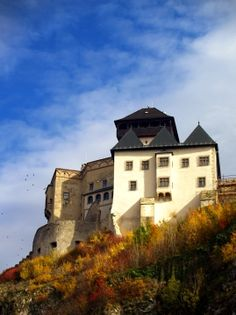 Autumn view of Trencin Castle, Slovakia.