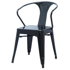 Metropolis Metal Arm Chair (Set of 4)
