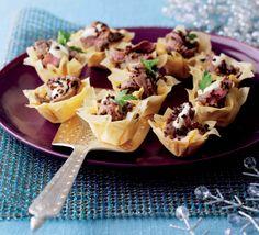 Tartaletas crujientes de carne en pasta filo http://www.eblex.es/ver_recetas_sencillas.php?id_receta=162  #recetas #gastronomía #cocina