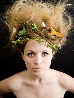 Rain Forest Theme Hair Dryad Costume Bird Fairy Tree