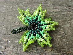Beaded Brooch, Beaded Earrings, Beaded Bracelets, Beaded Necklace Patterns, Beading Projects, Brick Stitch, Beaded Flowers, Seed Beads, Jewellery