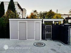 Pomieszczenie gosp RAL 7036 Pergola Patio, Garage Doors, Garden, Outdoor Decor, Bulgaria, House, Home Decor, Patio Shade, Patio Roof