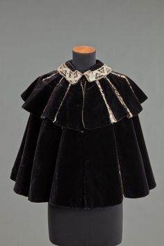Capelet (image 1) | House of Worth | France; Paris | 1890s | silk | Goldstein Museum of Design | Object #: 1982.043.001