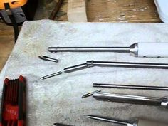 Home-made woodturning tools