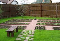 Как сделать красивые грядки для овощей на дачном огороде