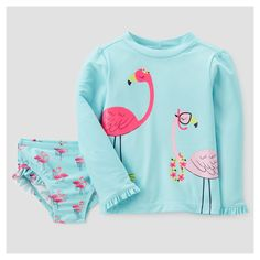 Baby Rash Guard Set - Just One You Made by Carter's Lagoon Turquoise 12M, Infant Girl's