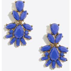 J.Crew Fan cluster dangle earrings ($18) ❤ liked on Polyvore featuring jewelry, earrings, cluster jewelry, j crew earrings, j crew jewellery, long earrings and dangle earrings