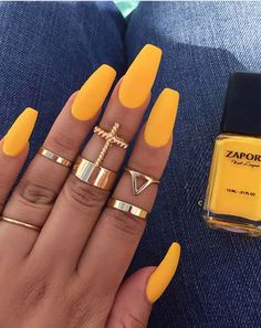 Yellow is one of nail colors which was not used mostly by women a few years ago but if we analyze in these days then we can see that there are some daring and bold ladies who like to use every kind of unique nail design in these days. This color is a best way to create interesting and cute nail designs easily nowadays.
