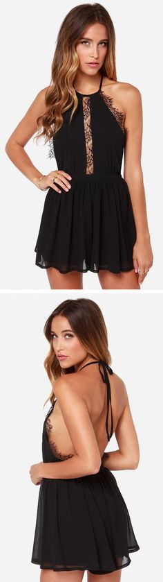 LULUS Exclusive The Best Halter Black Romper