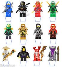 AMAZING NINJAGO LEGO 25 X STAND UP EDIBLE WAFER PAPER CUP CAKE TOPPERS