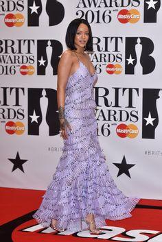 Rihanna at the 2016 BRIT Awards in London.