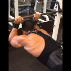""". """"Tower of Terror""""• - Start at the top and work your way down. This will target the Long Head of the Triceps. This is towards the end of my 3rd set and it was a brutal one.• - I don't have a set rep range and just go all out. Usually TRY to make it 3 sets.• - Want bigger Triceps?! Try this exercise out next time."""