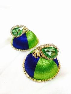 Silk thread earrings| Buyerparty Inc.