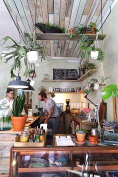 ETAGERES bois /suspensions plantes Berlin / Via Lejardindeclaire