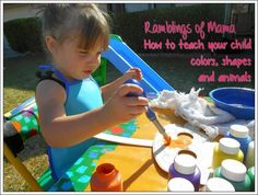 Ramblings of Mama: Four tips on how to teach your little one animals,... Learning Games For Toddlers, Toddler Learning, Teaching Kids, Color Shapes, Counting, Parenting, Play, Education, Children