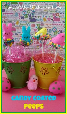 Candy Coated Peeps via All About the Mommies  #easter #peeps #easterrecipes