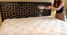 """Cleaning expert and author of """"Clean My Space"""" Melissa Maker breaks down how to clean your mattress. You're going to need some baking soda, . Baking Soda On Mattress, Mattress Cleaning, Clean Mattress, Diy Mattress, Washing Soda, Natural Cleaning Products, Deep Cleaning, Cleaning Tips, Luxury Bedding"""