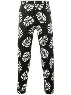 DOLCE & GABBANA Palm Leaf Print Trousers. #dolcegabbana #cloth #trousers