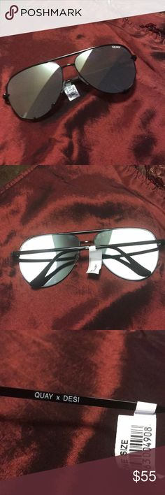 Quay , sunglasses NWT, never been used , I️ bought them but I️ didn't know they were mirror , no case Quay Australia Accessories Glasses