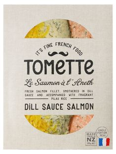 TOMeTTe. French meets casual Kiwis (New Zealander)food venture of ThOMas and eTienne. #packaging #design #type
