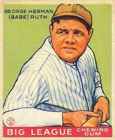 Babe Ruth Big League Baseball Card Refrigerator / Tool Box Magnet #Unbranded Baseball Jersey Outfit, Baseball Jerseys, Sports Baseball, Basketball, Baseball Stuff, Baseball Movies, Baseball Art, Cardinals Baseball, Kids Sports