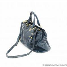 Prada Teal Leather Handbag http://siopaella.com/