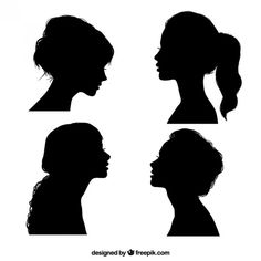 Here is a list of free high-quality silhouette sets of a wide range of subjects including animal and human figures. Silhouette Face, Silhouette Painting, Silhouette Clip Art, Black Silhouette, Silhouette Of Woman, Silhouette Drawings, Girl Side Profile, Female Side Profile, Face Profile
