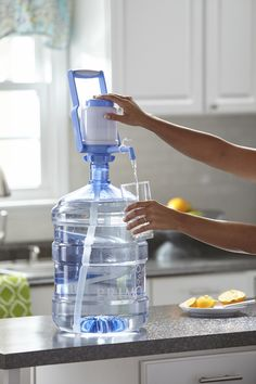 Portable Manual Water Dispenser with Carry Handle, FREE Water Coupon included* Camping Water, Camping Gear, Camping Hacks, Camping Storage, Camping Stuff, Outdoor Camping, Gallon Water Bottle, Water Bottle Carrier, Water Coolers