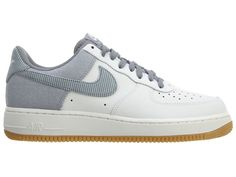 Nike Air Force 1 One Low Summit White Wolf Grey Gum Light 488298 161 US7 UK6