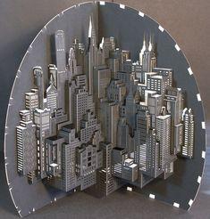 Pop-up Paper Architecture - paper sculpture; paper engineering // Ingrid Siliakus #art