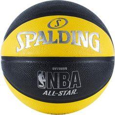 Spalding NBA All Star Basketball, Yellow/Black