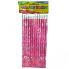 Pack of 12 Princess Pencils - Party Bag Fillers and Favour Ideas