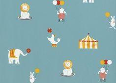 papier peint Cosas Minimas 'Circus' Coordonné | shop pour enfants Le Petit Zèbre