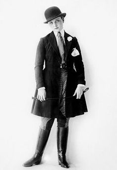 Olive Thomas in a riding habit, circa 1917, Triangle Studios Photo