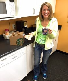 Nothing says happy anniversary like a traveler of Starbucks and some Casey's General Store breakfast pizza. Congratulations on 9 years, Mary!