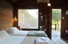 Nkambeni Safari Camp, inside the Kruger Park at the Numbi Gate. Luxury timber and canvas tented suites